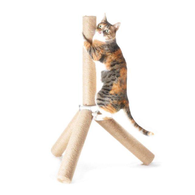 4Claws Vertical Jute Tripod Cat Scratching Post