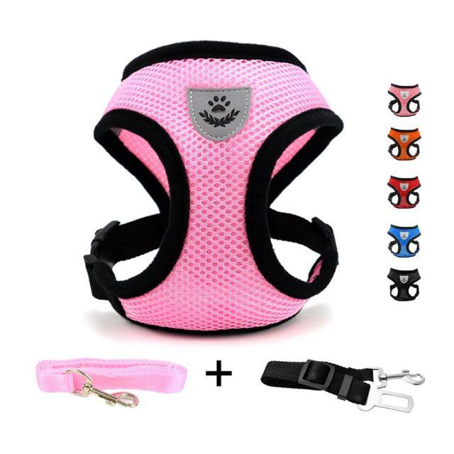 DogJog Adjustable Soft Mesh Padded Cat Harness